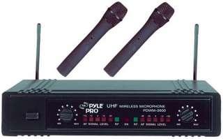 PYLE PRO PDWM2600 Dual UHF Wireless Microphone System 068888875561