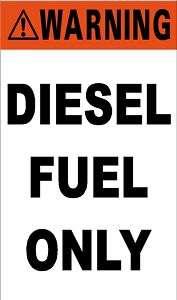 Diesel Fuel Only decal sticker