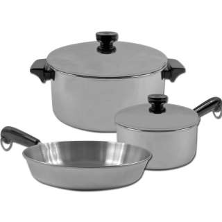 piece REVERE® Stainless Steel Aluminum Disc Cookware 844296088560