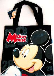 DISNEY MICKEY MOUSE Black Handbag Shoulder Bag Tote Bag