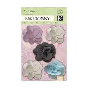 K & Company Flora & Fauna Fabric Art Tulle Flowers 5/Pkg