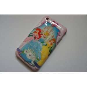 Disney Princesses Hard Cover Case for iPhone 3G 3GS Cute + Free Screen