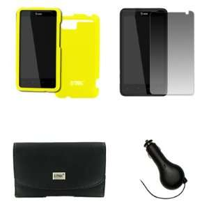 EMPIRE HTC Holiday Black Leather Case Pouch with Belt Clip