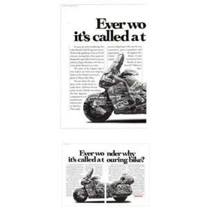 Print Ad 1991 Honda Gold Wing Motorcycle Honda Books