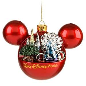 Disney World Mickey Four Parks World Bulb Ornament NEW