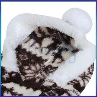 Pet Dog Puppy Christmas Raindeer Jumpsuit Coat Warm Fluffy Pajamas