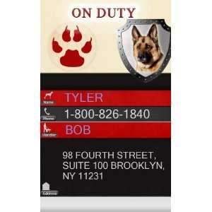 ON DUTY ID Badge   1 Dogs Custom ID Badge   Design#1