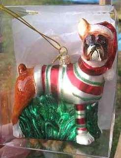 NEW* BOXER II Blown Glass Xmas Ornament NICE