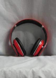 Red Over the head Studio Beats by Dr. Dre with box case and papers A