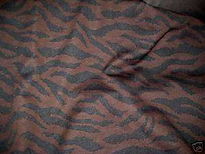 BROWN/BLACK ANIMAL PRINT DOUBLE KNIT POLYESTER FABRIC