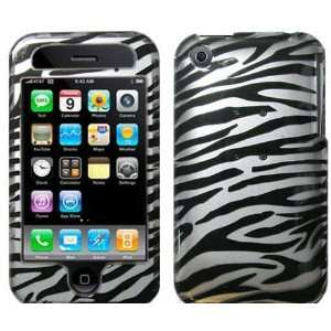 2D Apple iPhone 3GS 3G Hard Protector Case Cover Black Zebra & LCD