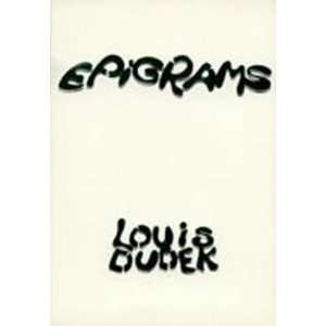 Epigrams (9780919688087): Louis Dudek: Books