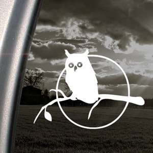 Owl In Tree Decal Car Truck Bumper Window Sticker Arts