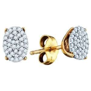 Sterling Silver 0.20 Dwt Diamond Micro Pave Earings
