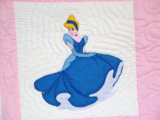 HAND~QUILTED DISNEY PRINCESS BABY QUILT/WALL HANGING