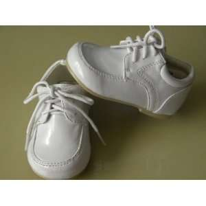 Infant & Toddler Boys White Dress Leather Shoes Tuxedo