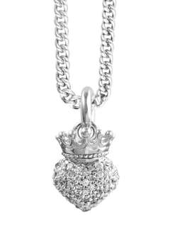 King Queen Baby Studio baby Crowned Heart cz Pendant