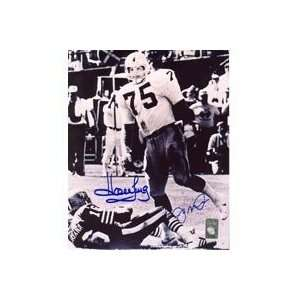 Howie Long Oakland Raiders & Joe Montana San Francisco 49ers