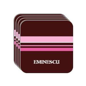 Personal Name Gift   EMINESCU Set of 4 Mini Mousepad Coasters (pink