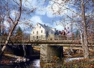 Saving the Edinburg Mill John Paul Strain Civil War Print   Virginia
