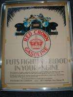 Oil Red Crown Gasoline Oil 1900 20s Era Advertising Poster Sign