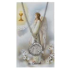 Set PSD600GB St. Saint Gabriel The Arch Angel Prayer Card Set Jewelry