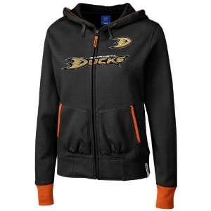Reebok Anaheim Ducks Ladies Black Chant Full Zip Hoody