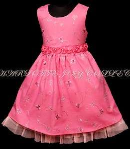 Baby Girls PINK party pageant dress age options SD134
