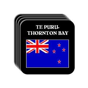 New Zealand   TE PURU THORNTON BAY Set of 4 Mini Mousepad Coasters