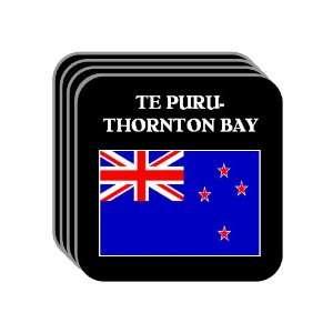 New Zealand   TE PURU THORNTON BAY Set of 4 Mini Mousepad Coasters