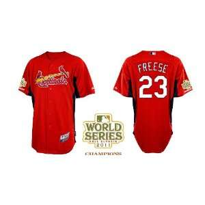 St. Louis Cardinals Authentic MLB Jerseys David Freese RED