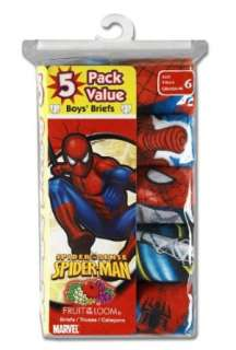 Fruit of the Loom Boys 5 Pack Spiderman Briefs Prints