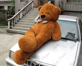 GIANT HUGE 90 BROWN TEDDY BEAR STUFFED PLUSH TOY