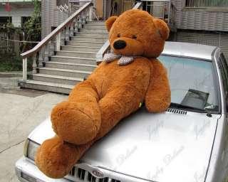 GIANT HUGE 90 BROWN TEDDY BEAR STUFFED PLUSH TOY