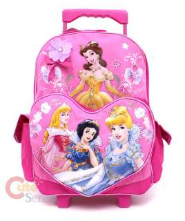 Disney Princess School Backpack/Bag Pink Heart  16 Roller