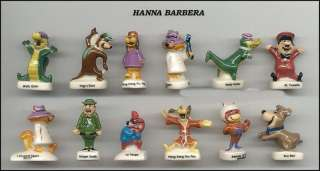 HANNA BARBERA French Set 12 PORCELAIN Figures YOGI etc.