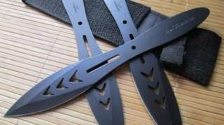 Ninja Throwing Knives Black Blade Knife Cosplay Custome Set 3PCS