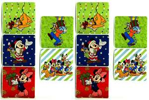 Disney MICKEY MOUSE CHRISTMAS 10 Stickers Pluto Goofy