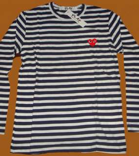 NWT COMME Des GARCONS CDG PLAY Stripe sizeM