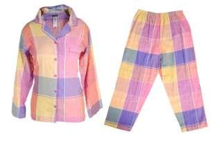 Womens Plus Size Plaid Flannel Joe Boxer Pajama PJ Set