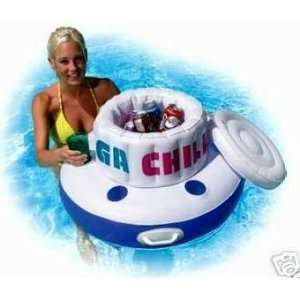 Mega Chill Inflatable Floating Pool Cooler Ice Chest Toys & Games