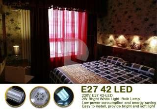 42 LED Bright White Screw Exhibition Light Bulb Corn Lamp EL32