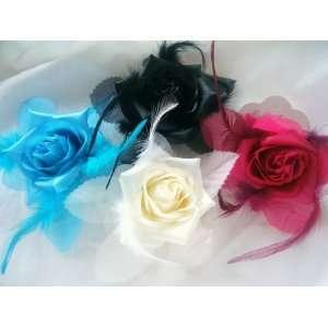 Silk Fabric Flower Hair Clip & Pin Brooch
