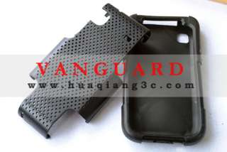 Black Mesh Hard & Soft Rubber Dual Layer Hybrid Case Samsung Galaxy S