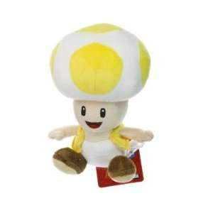 Toad ~6.75 Plush   New Super Mario Bros Wii Plush Series Toys & Games