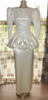 Peplum Satin Lace Wedding Dress Prom Gown Jessica McClintock