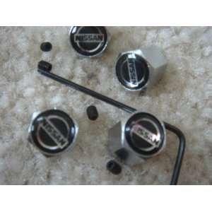 4 PCS Anti theft Tire AIR Valve Stems Caps for Nissan Car