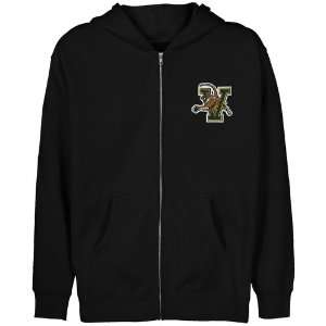 NCAA Vermont Catamounts Youth Black Logo Applique Full Zip