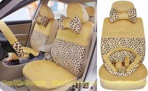 NEW FAS Leopard Print Car Seat Cover 18pcs M807