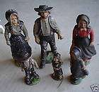 AMISH PEOPLE FIGURES MINIATURE PLAY TOY CAST IRON DECOR